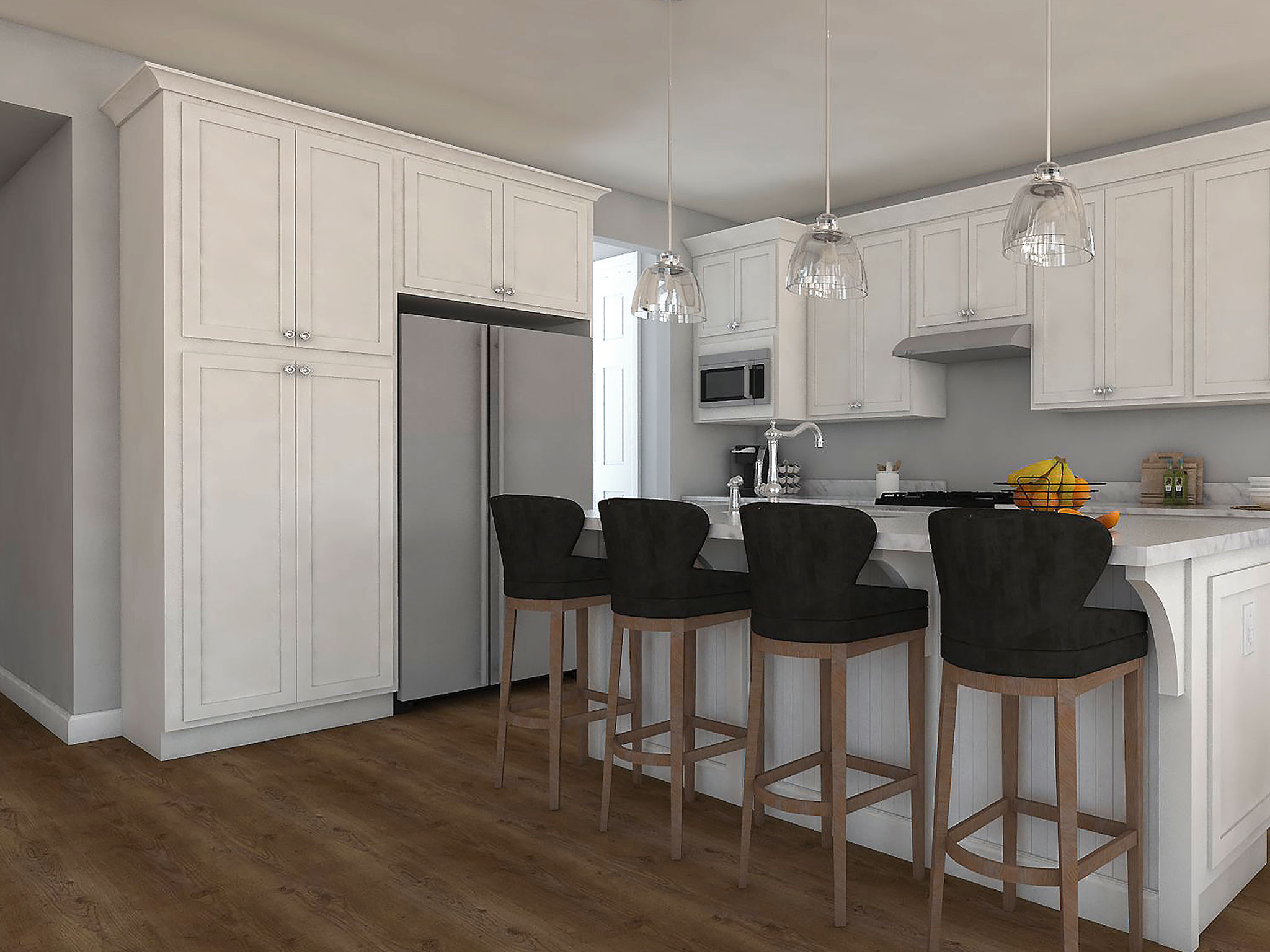 Designer Kitchen Rendering