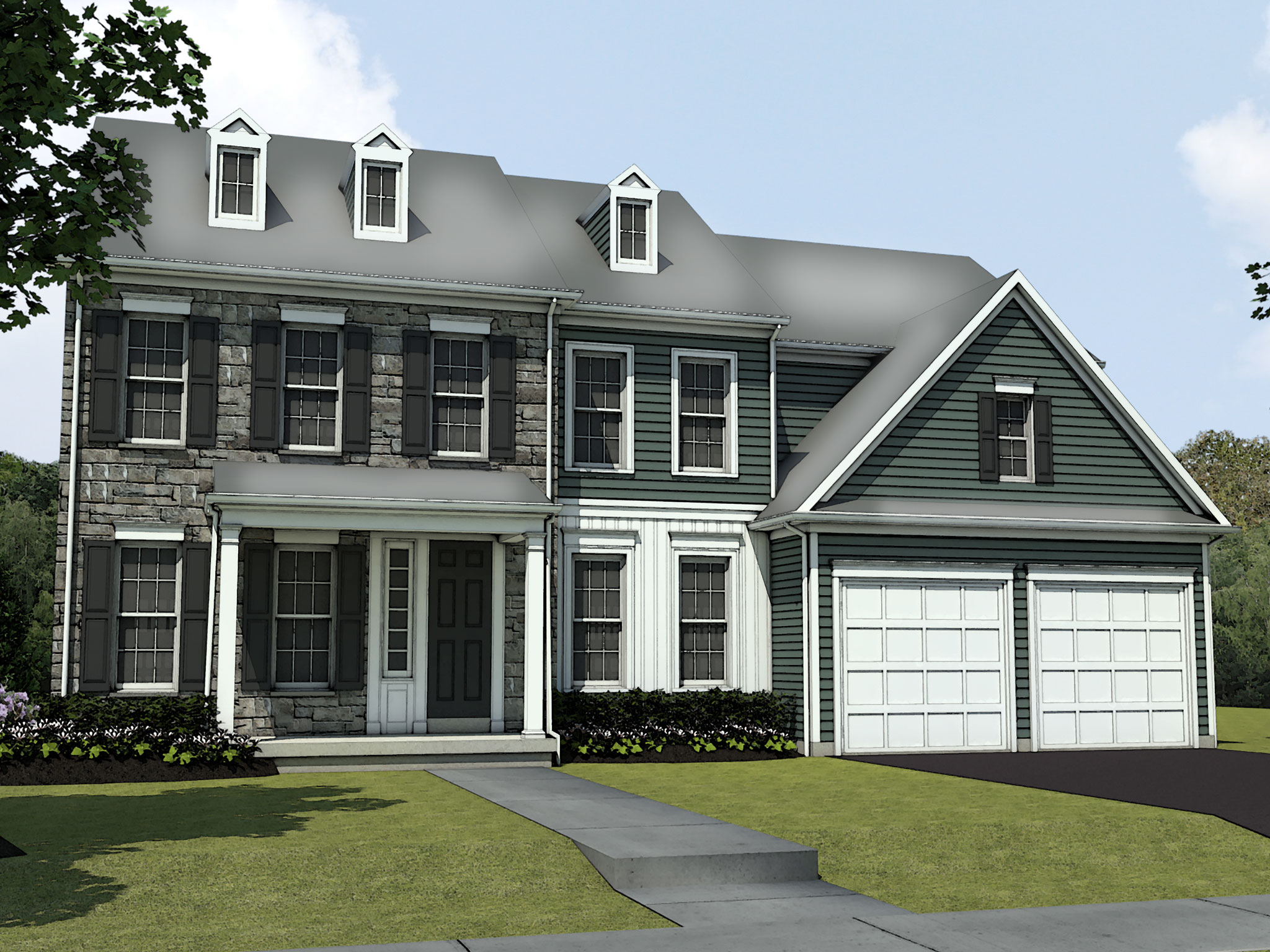 Estate Elevation Rendering