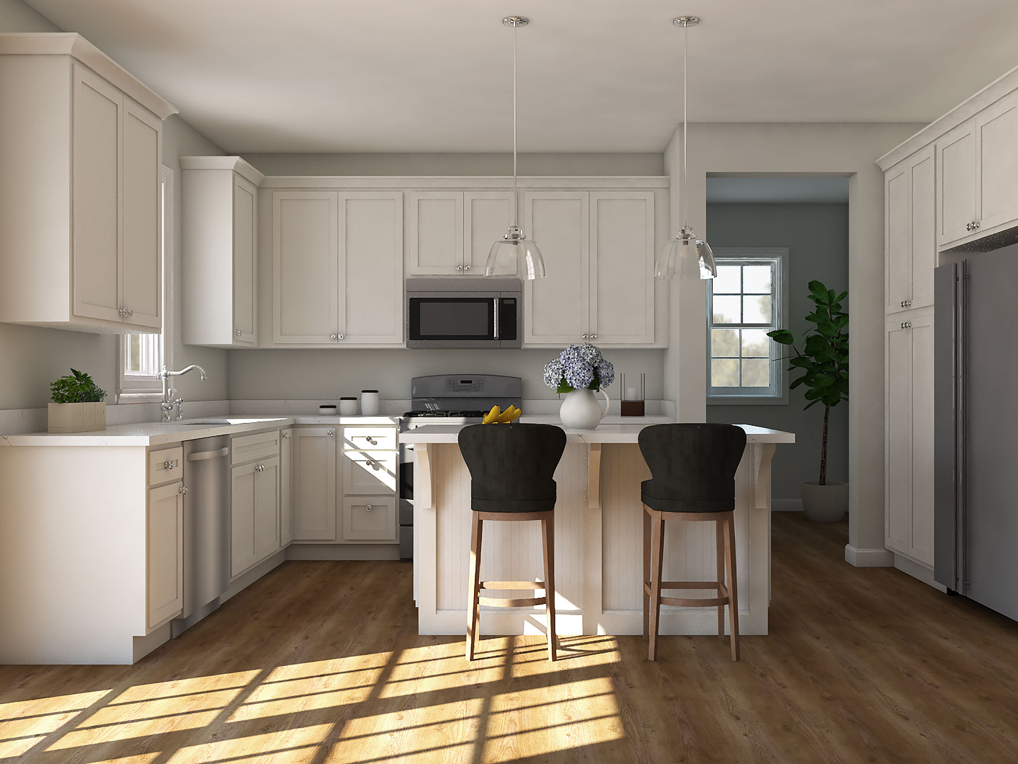 Classic Kitchen Rendering