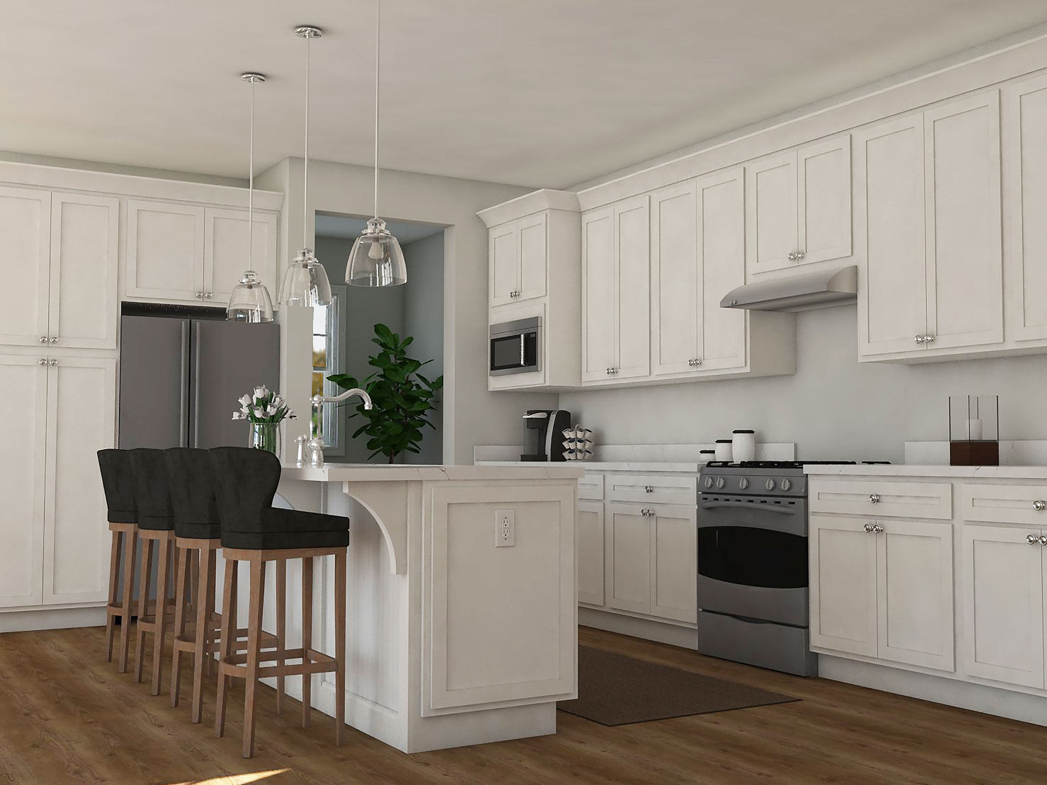 Designer Kitchen Rendering