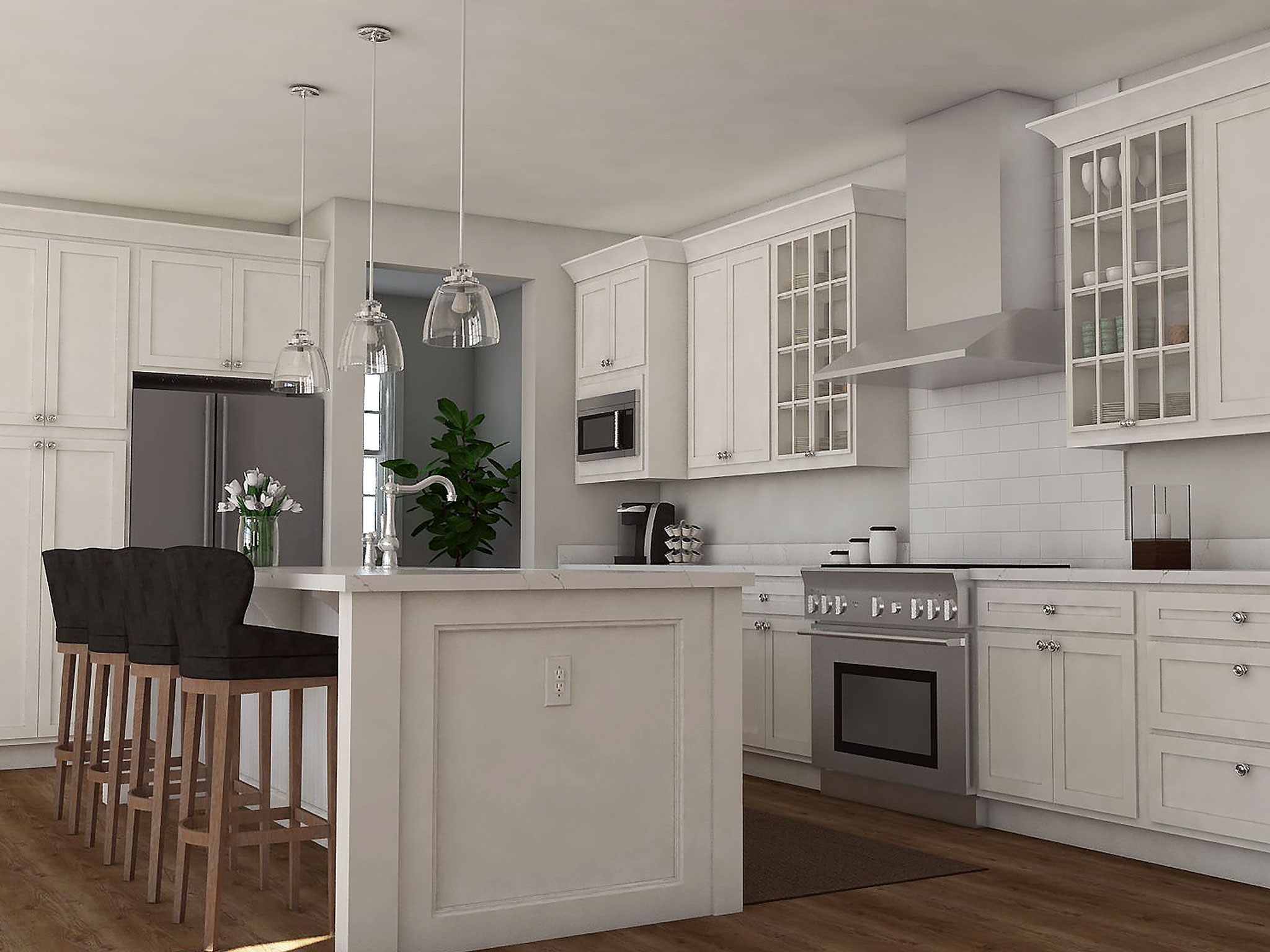Chefs Kitchen Rendering